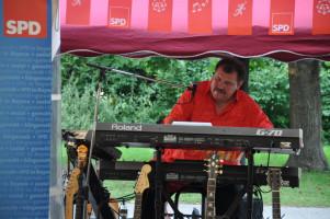 Musiker Honsberg in Aktion