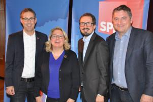 Michael Schrodi, Svenja Schulze, Hubertus Böck, Bernhard Goodwin