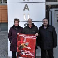 Beate Full Gemeinderätin, Thomas Kirmse SPD-Vorsitzender, Franz Trinkl Gemeinderat